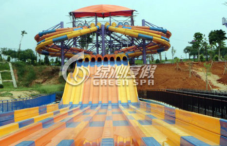 Commercial Multi Lane Variable speed Racing Water Slide with Stainless Steel Screw