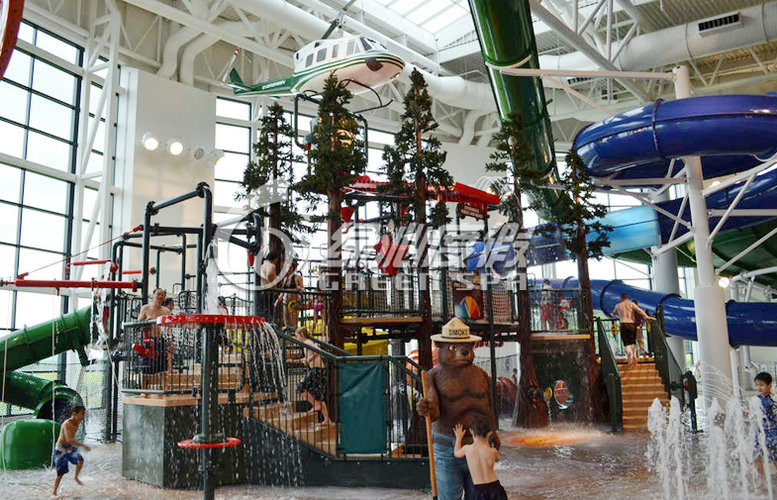 Large Indoor Aqua Playground Water Amusement Park Equipment , Durable and Safety