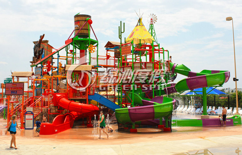 Stainless Steel Aquatic Play Structure Anti UV Aqua Playground With Water Curtain